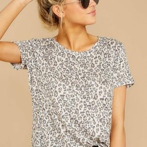 Z Supply The Natural Leopard Ultimate Crew Tee XL